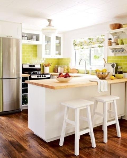 25560710 085254 ไอเดียแต่งห้องครัวด้วยสีเขียว เหลือง 30 แบบ
