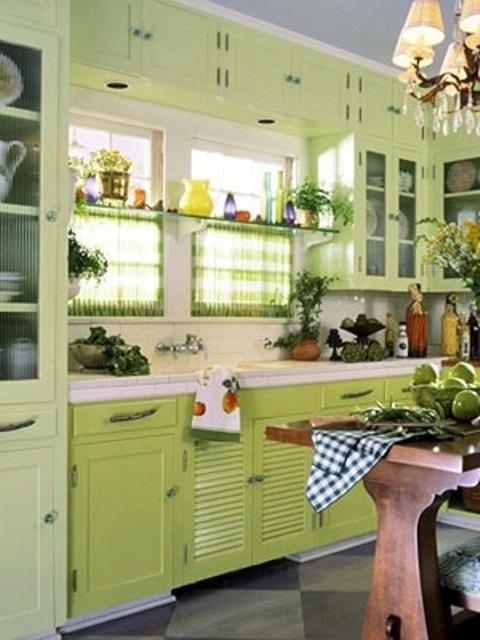 25560710 085314 ไอเดียแต่งห้องครัวด้วยสีเขียว เหลือง 30 แบบ