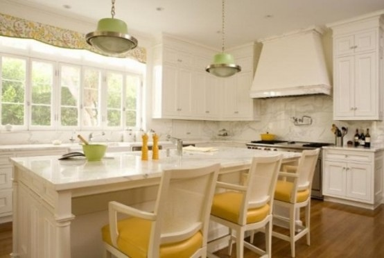 25560710 085345 ไอเดียแต่งห้องครัวด้วยสีเขียว เหลือง 30 แบบ