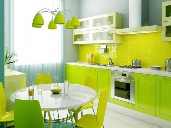 25560710 085355 ไอเดียแต่งห้องครัวด้วยสีเขียว เหลือง 30 แบบ