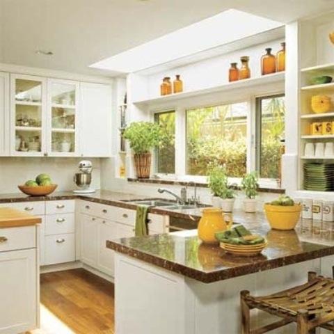 25560710 085540 ไอเดียแต่งห้องครัวด้วยสีเขียว เหลือง 30 แบบ