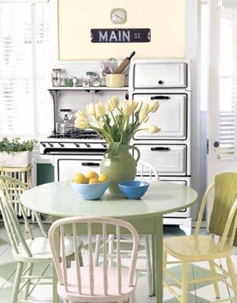 25560710 085633 ไอเดียแต่งห้องครัวด้วยสีเขียว เหลือง 30 แบบ