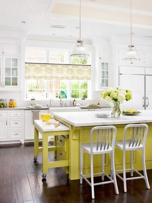 25560710 085746 ไอเดียแต่งห้องครัวด้วยสีเขียว เหลือง 30 แบบ