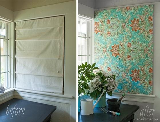25560710 101712 DIY สร้างงานศิลปะติดผนัง หรือแทนผ้าม่าน ด้วยผ้าสวยๆในกรอบผ้าใบ