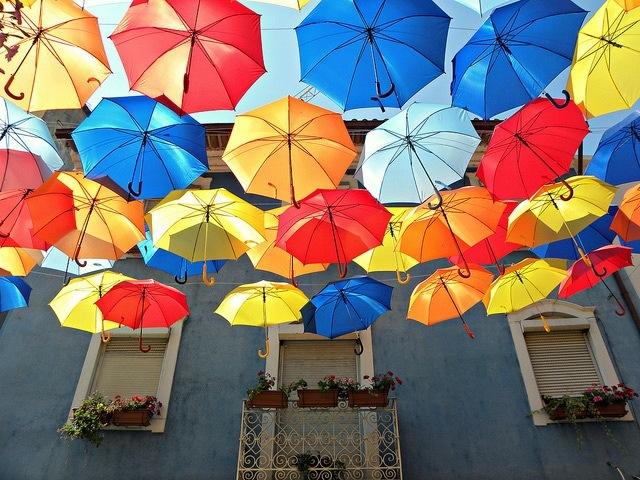 25560710 192228 ถนนที่คลุมด้วยร่มในโปรตุเกสกลับมาอีกครั้งในปีนี้ สีสันแตกต่างจากเดิม แต่ยังสวยสดใสเหมือนเดิม