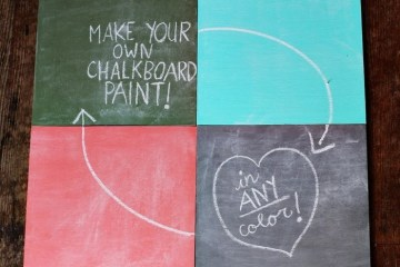 DIY สีทำกระดานดำ 12 - chalkboard paint