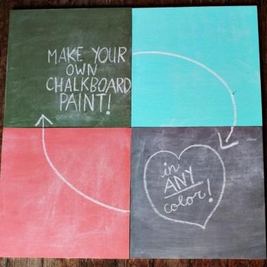 DIY สีทำกระดานดำ 16 - chalkboard paint