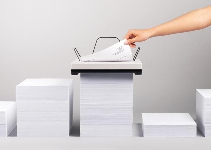 Stack Printer เครื่องพิมพ์ที่ไม่ต้องใส่ถาดกระดาษ  ไม่ต้องคอยเติมกระดาษ 19 - product design