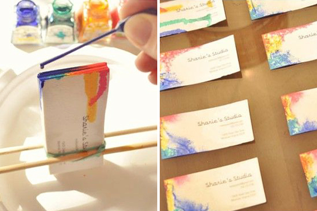 DIY. Tie-Dyed Business Cards 13 - Business Card