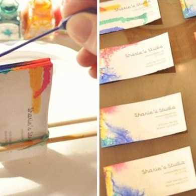 DIY. Tie-Dyed Business Cards 22 - Business Card
