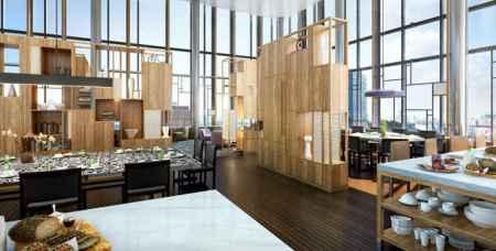 PARKROYAL on Pickering Orchid Club Lounge interior billboard 450x228 PARKROYAL on Pickering Singapore สถาปัตยกรรมกึ่งประติมากรรมสุดล้ำนี้ใช้วัสดุธรรมชาติร่วมกับเทคโนโลยีและพลังงานหมุนเวียนได้
