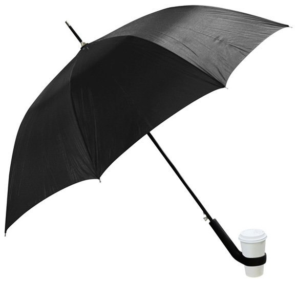 Umbrella-with-Coffee-Cup-Handle