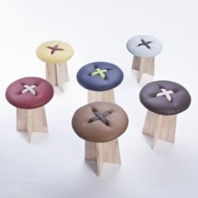 Button..เก้าอี้รูปกระดุม .. เรียบง่าย และน่ารัก ทำมือทั้งชิ้น 16 - stool