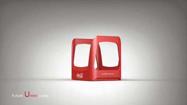 Coke future crate 05 Coca cola  Eco Bottle Containers