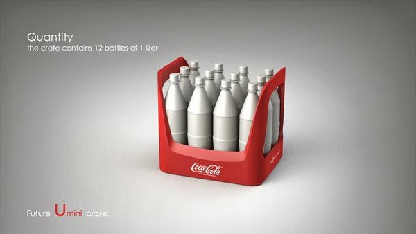 Coke future crate 06 Coca cola  Eco Bottle Containers