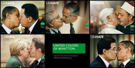 benetton unhate campaign 01 450x227 The UNHATE campaign ภาพของผู้นำประเทศซึ่งมีความขัดแย้งกัน จูบกัน