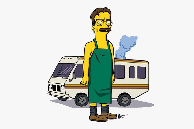 breaking bad simpsons db02 Breaking bad characters illustrated like the simpsons