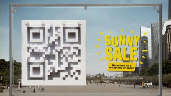 emart SUNNY SALE ช็อปปิ้งรับส่วนลด โดยการใช้มือถือสแกน QR Code