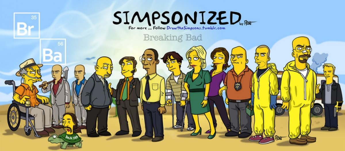 tumblr mqpcf6zren1snftoqo1 1280 Breaking bad characters illustrated like the simpsons
