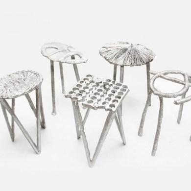 เก้าอี้จากขยะ..ผลิตจากกระป๋องน้ำอัดลม ใช้เชื้อเพลิงจากน้ำมันพืชใช้แล้ว แม่พิมพ์จากกองทรายข้างถนน 22 - eco-friendly