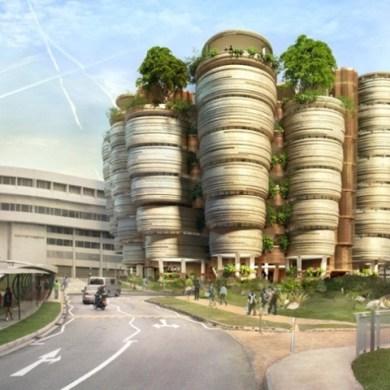 อาคารเรียนที่เน้นให้เกิดกิจกรรมทางสังคม ..ได้แรงบันดาลใจจากรังผึ้ง 15 - Nanyang Technological University