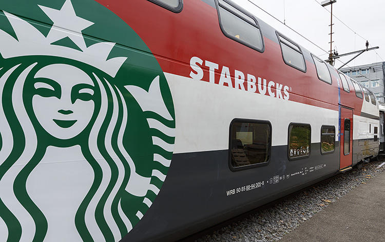The train is hiding a Starbucks store inside 13 - Coffee