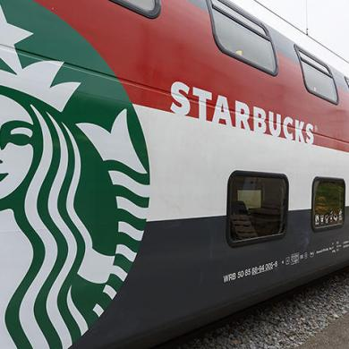The train is hiding a Starbucks store inside 16 - Coffee
