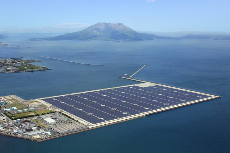 Kyocera floats mega solar power plant in Japan 17 - solar panel