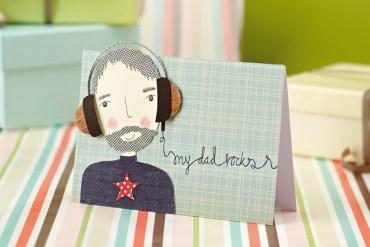 FREE Father's Day printables : DIY การ์ดวันพ่อ โหลดฟรีตัวการ์ตูนคุณพ่อ 24 - Gift