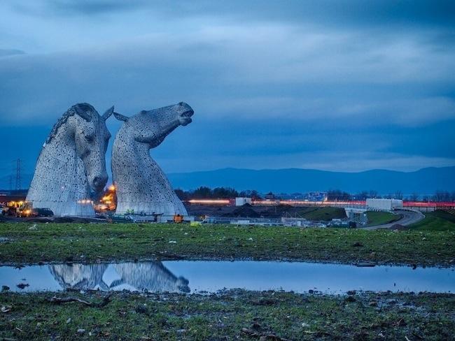 ประติมากรรมหัวม้า..ตัดกับเส้นขอบฟ้า ของสก็อตแลนด์ 13 -