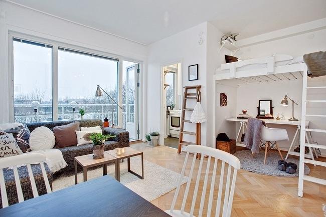 """ห้องพัก 29 ตร.ม. เล็กจริงหรือ? ไอเดียสวีเดนเปลี่ยน """"ห้องเล็กๆ"""" ให้กลายเป็น """"บ้าน"""" 15 - 100 Share+"""