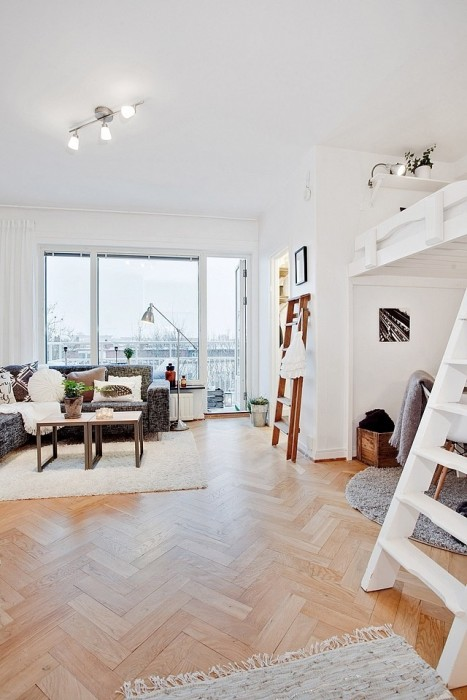 """ห้องพัก 29 ตร.ม. เล็กจริงหรือ? ไอเดียสวีเดนเปลี่ยน """"ห้องเล็กๆ"""" ให้กลายเป็น """"บ้าน"""" 20 - 100 Share+"""
