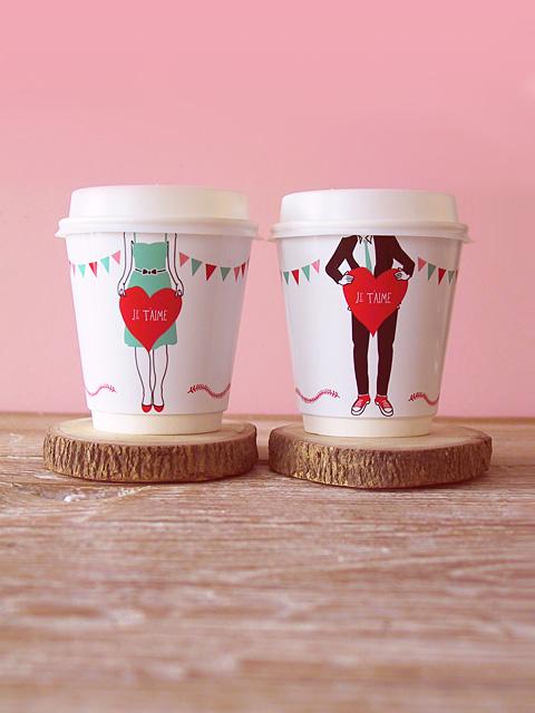 valentine cup wrappers DIY:  ถ้วยชา   กาแฟ ของขวัญสำหรับคนสำคัญในวันวาไลน์ไทน์