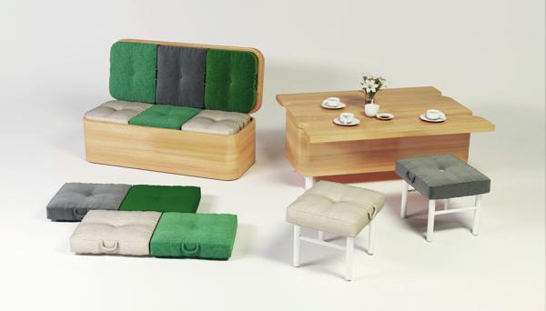 wpid convertible sofa dining table 002 โซฟาที่เปลี่ยนเป็นโต๊ะทานข้าว พร้อมเก้าอี้สำหรับ 6 ที่ได้อย่างง่ายๆ