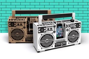 ลำโพงสมาร์ทโฟน จากกระดาษกล่อง ในแบบ Boombox ของยุค'80