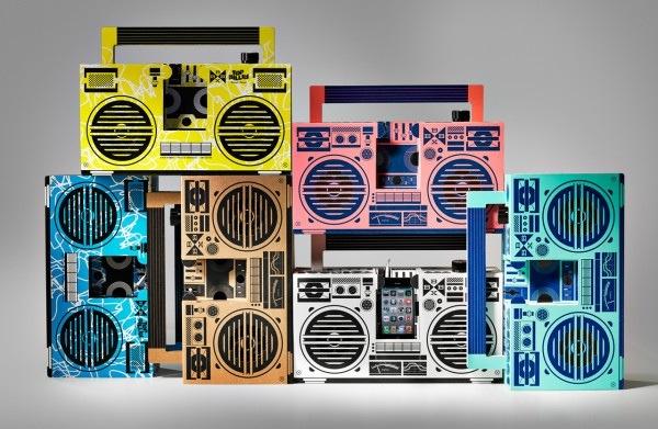 25570303 195012 ลำโพงสมาร์ทโฟน จากกระดาษกล่อง ในแบบ Boombox ของยุค80