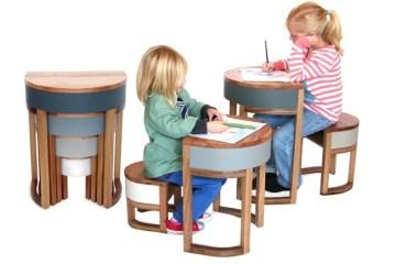 TABLES FOUR TWO โต๊ะเก้าอี้ 2ชุด ซ้อนเรียงกันอย่างฉลาด สำหรับบ้านพื้นที่จำกัด 23 - เก้าอี้