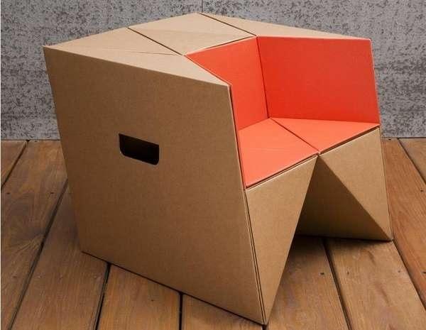 25570310 184155 เก้าอี้origamiจากกระดาษกล่อง.. น้ำหนักเบา ปลอดภัย เป็นมิตรกับสิ่งแวดล้อม
