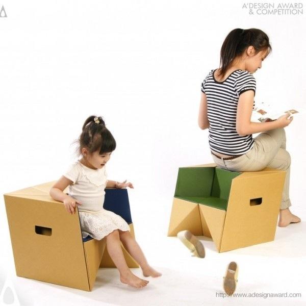 25570310 184557 เก้าอี้origamiจากกระดาษกล่อง.. น้ำหนักเบา ปลอดภัย เป็นมิตรกับสิ่งแวดล้อม