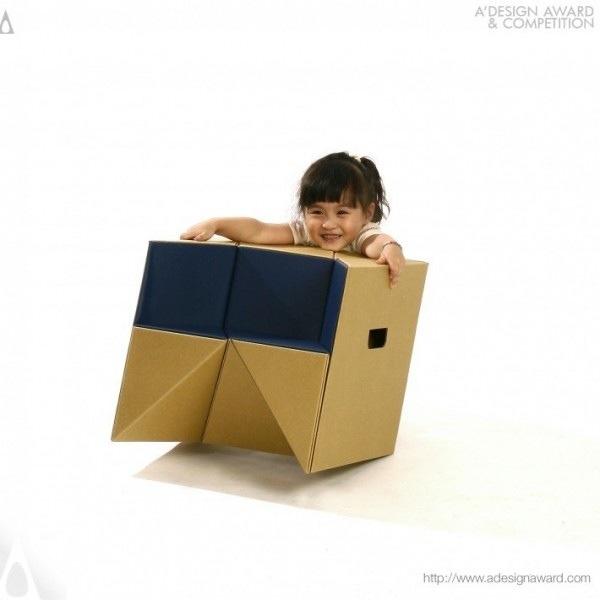 25570310 184613 เก้าอี้origamiจากกระดาษกล่อง.. น้ำหนักเบา ปลอดภัย เป็นมิตรกับสิ่งแวดล้อม