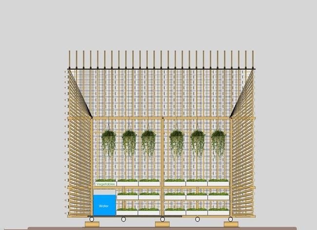 25570312 172811 โรงอนุบาลผัก ทำจากไม้ไผ่ และขวดพลาสติก ความร่วมมือระหว่างคนในเมือง และเกษตกรในชนบท