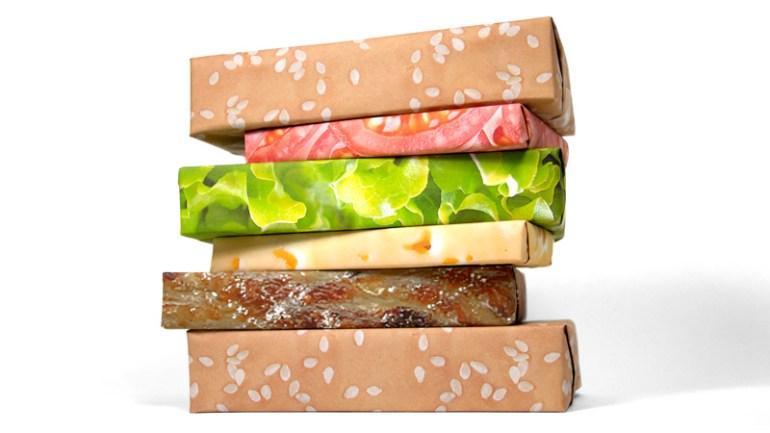 Cheeseburger Wrap กระดาษห่อของขวัญแฮมเบอร์เกอร์ 13 - Cheeseburger Wrap