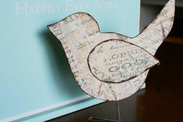 DIY นกตั้งโต๊ะ จากคลิปหนีบกระดาษ 10 - DIY