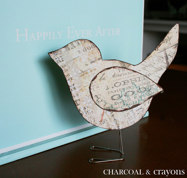Scrappy Sparrows 1 DIY นกตั้งโต๊ะ จากคลิปหนีบกระดาษ