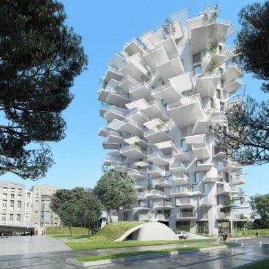 Arbre Blanc..อาคารที่เสมือนต้นไม้สีขาว แตกกิ่งก้านออกรับสายลม แสงแดด 33 - Arbre Blanc