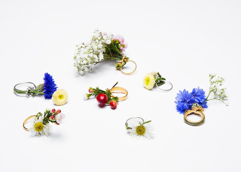 Spring rings by Gahee Kang incorporate flowers dezeen ss 5 Blooming Jewelry, Spring rings by Gahee Kang