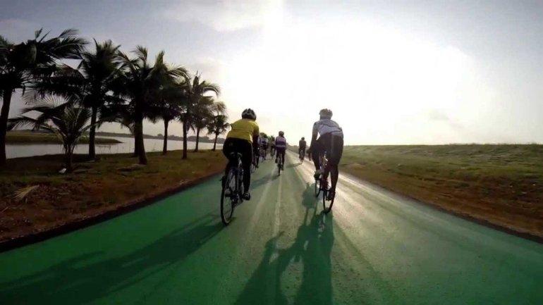 สนามบินสุวรรณภูมิ เปิดถนนสีเขียว..ทางสำหรับจักรยานเท่านั้น รถห้ามวิ่ง 13 - cycling path