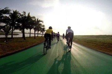 สนามบินสุวรรณภูมิ เปิดถนนสีเขียว..ทางสำหรับจักรยานเท่านั้น รถห้ามวิ่ง