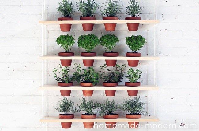 20140510 121607 DIY สวนผักแนวตั้งจากไม้ กระถาง และเชือก