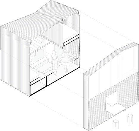 20140516 165411 ชุมชนบ้านขนาดเล็กจากไม้ไผ่ ภายในอาคารโรงงานเก่า..แก้ปัญหาที่อยู่อาศัยชั่วคราว